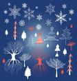 Beautiful Christmas winter for vector image