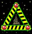 Christmas road sign vector image vector image