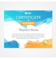 Modern Certificate Template Horizontal vector image