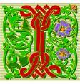 decorative letter I vector image