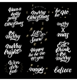 Big set of hand drawn christmas lettering and vector image