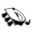 black sections silhouette of steam iron icon vector image