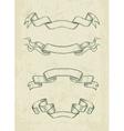 Hand drawn vintage ribbons vector image