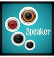 Music speaker equipment and technology vector image