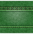 Seamless green jeans texture vector image