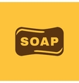 The soap icon Soap symbol Flat vector image