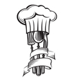 cutlery and hat vector image vector image