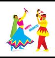 celebrate navratri festival with dancing garba vector image