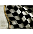 Horizontal Checkered Background old-style vector image vector image