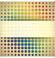 Abstract retro circles vector image vector image