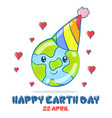 collection design earth day vector image