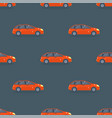 flat red car vehicle type design sedan seamless vector image