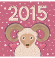 Ram symbol of New year 2015 vector image
