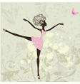 ballerina girl vector image
