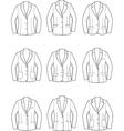 Women business jacket vector image vector image