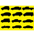 Cars silhouettes part 1 vector image
