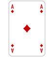 Poker playing card Ace diamond vector image