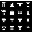 white column icon set vector image vector image