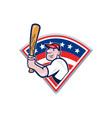 American Baseball Player Batting Cartoon vector image