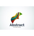 Abstract wave logo template smooth motion concept vector image