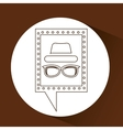 concept hipster hat and glasses retro vector image