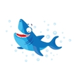 Cute shark isolated T-Shirt design for children vector image