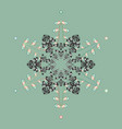 Isolated cute snowflakes on colorful background vector image