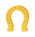 lucky horseshoe gold metal irish object vector image