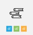 of teach symbol on books vector image