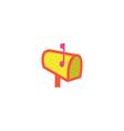 Postbox Icon vector image