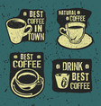 retro vintage coffee labels vector image