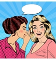 Woman Whispering Secret to her Friend Pop Art vector image
