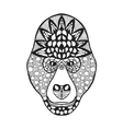 Zentangle stylized gorilla head Sketch for tattoo vector image