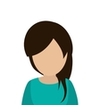 faceless woman portrait icon vector image