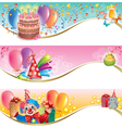 Birthday banners vector image vector image