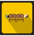 Magician sawing box icon flat style vector image