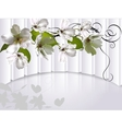 background with flowers Apple tree vector image
