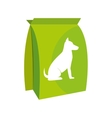 dog bag food icon vector image