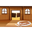 A plate with hotdogs vector image vector image
