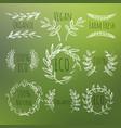 green labels set vector image