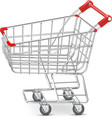 Shopping supermarket cart vector image