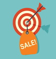 target sale1 resize vector image