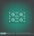 money bill symbol icon dollar pound sterling vector image