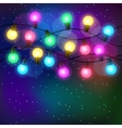 Celebration background with garland of bulbs vector image vector image