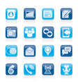 Media and communication icons vector image vector image