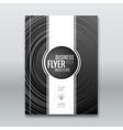 Cover flyer brochure report template with vector image