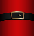 coat and belt of Santa Claus vector image vector image