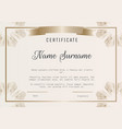 certificate diploma template with vector image
