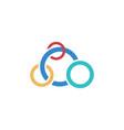 circle olimpiade business logo vector image