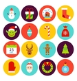 Flat Happy New Year Icons vector image